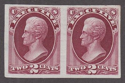 US O11P3 2c Executive Department Proof Pair on India Paper
