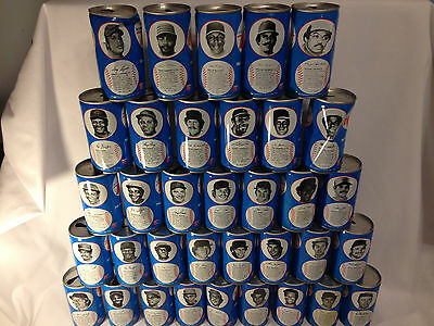 RC Cola Mid 1970s Baseball Can Collection 35 Cans Bench, Griffey, Rose, Jackson