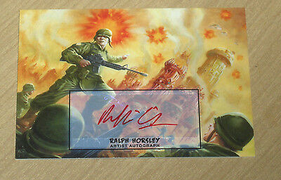 2013 Topps MARS ATTACKS INVASION Ralph Horsley artist autograph card #42