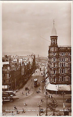 Postcard Belfast Northern Ireland view from City Hall RP