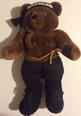Applause Teddy Bear Stuffed Animal Rambear Rambo Vintage 1986 80s Plush Toy Rare