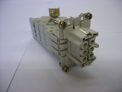 Weidmuller (Harting Equivalent) 6 pole Connector Female Insert