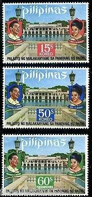 Philippines 1973 SG 1324-1326  Mi 1083-5 MNH Presidential Palace Marcos Imelda