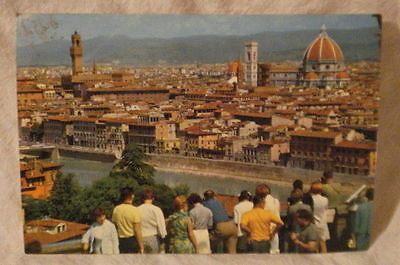Post Card Firenze Italy View Michelangelo Square