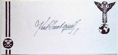 KURT LUNDQUIST 1948 OLYMPIC 4x400m RELAY BRONZE MEDAL INK AUTOGRAPH