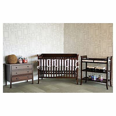 Baby Mod Ava 3-Piece Nursery Set - Espresso crib changing table NEW