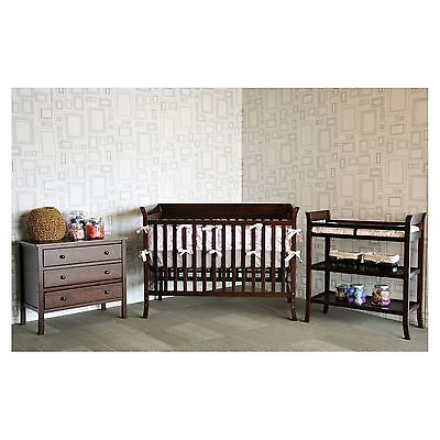 Baby Mod Ava 3-Piece Nursery Set - Espresso crib changing table NEW NEW NEW