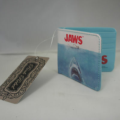 Authentic UNIVERSAL STUDIOS JAWS Movie Poster Logo Official Bifold Wallet NEW