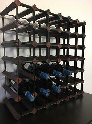 Wooden metal wine rack Belair 42 72 110 121 140 bottle cellar Timber storage