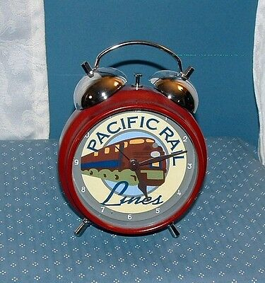 Pacific Rail Lines Alarm Clock - Battery Orerated - Good Condition