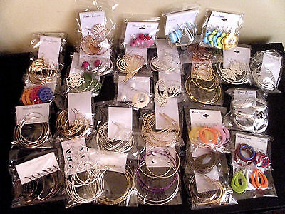 Wholesale Lot Of 90 Pairs Earrings / Dangle / Hoop / New