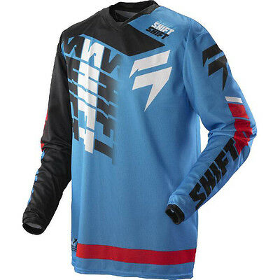Shift MX Mens Strike Jersey - Glory Blue Motocross Offroad enduro trail