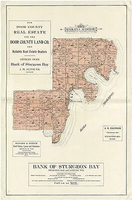 1914 DOOR COUNTY plat maps atlas old GENEALOGY WISCONSIN history Land P144