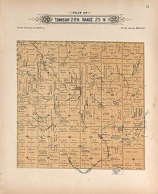 1910 HARPER COUNTY plat maps OKLAHOMA GENEALOGY history Atlas Land P138