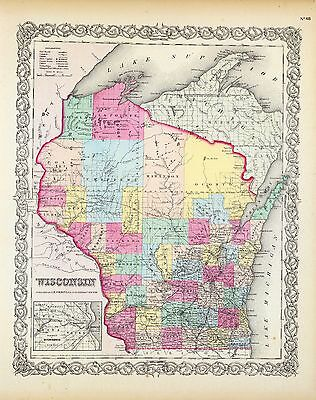 179 maps WISCONSIN state PANORAMIC genealogyold  HISTORY teaching atlas DVD