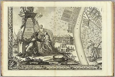 1753 Atlas city of Saint Petersberg Russia beautiful maps and drawings DVD T6
