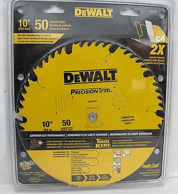 "NEW DeWalt 10""-50 Carbide Tooth Thin Kerf Circular Saw Blade DW7150PT"