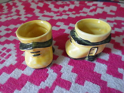 Royal Art Pottery England Vintage Pair of Shoes Ceramic Egg Cup