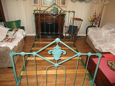 Antique Vintage Iron Bed Full Size