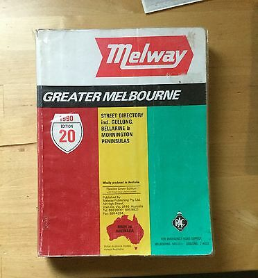 MELWAY EDITION 20 STREET MAP 1990 Melways 20th Edition
