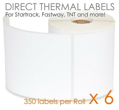 6x 350 100x150mm Direct Thermal Shipping Label For Fastway Startrack eParcel 4x6