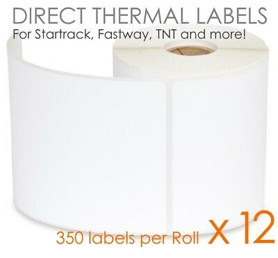 12 x 350 100x150mm Direct Thermal Shipping Labels Fastway Startrack eParcel 4x6