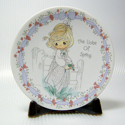 Precious Moments THE VOICE OF SPRING Miniature Collector Plate Vintage 1992