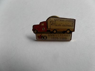 Canada Safeway Limited 60th Anniversary Staff pin 1929-1989 Truck Pin