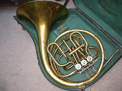 "Nice old & odd 4 V. compensation doublehorn frenchhorn ""Lidl Acustic 1a"""