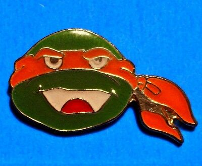 Teenage Mutant Ninja Turtles - Michelangelo - Face - Vintage 1990 Mirage Pin