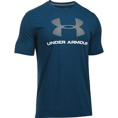 Under Armour Charged Cotton Sportstyle Logo T-Shirt navy white 1257615-999 Sport
