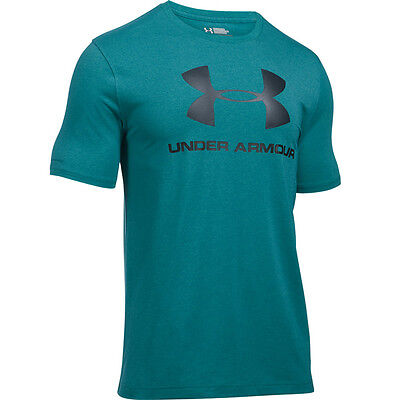 Under Armour Charged Cotton Sportstyle Logo T-Shirt turquoise sky 1257615-158 UA
