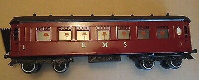 c1930 Pre War Hornby Series O gauge No.2 Special Pullman Coach,refurbished,'LMS'