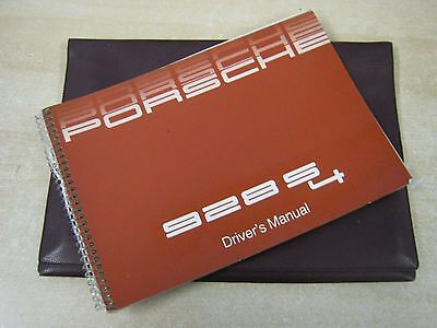 Porsche 928 S 4  Turbo New Owners Manual Handbook  1986  Number Wkd92802087