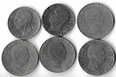 Italy  Lot Of 6 Coins