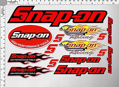 *1 Set. Snap-On High Performance Racing Tools Decals Sticker Printed Die-Cut