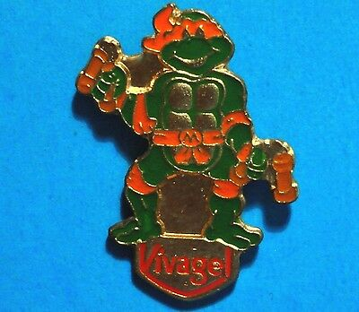 Teenage Mutant Ninja Turtles - Michelangelo - Vivagel - Vintage 1990 Mirage Pin