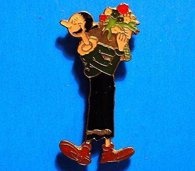 Popeye - Olive Oyl With Flowers -The Sailor Man's Girlfriend - Vintage Lapel Pin