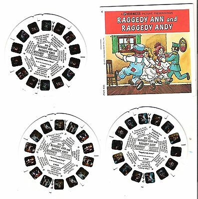 VM160) Viewmaster reels - Raggedy Anne and Raggedy Andy - 3 reel set