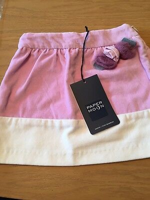 *BNWT* Girls Pink & Ivory Skirt By PAPER MOON (18-24 Mths) *FREE UK P&P*