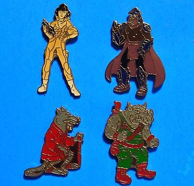 Teenage Mutant Ninja Turtles - O'neil - Splinter - Rhino - 4 Vintage Pins Lot
