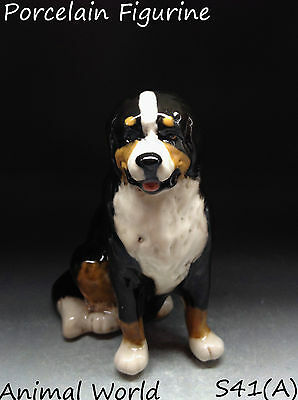 Bernese Mountain Dog porcelain figurine Made in Russia