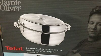 Tefal Jamie Oliver Professional Series Oval Roasting Pan with Lid 38x26cm