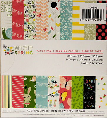 American Crafts Welcome Spring Scrapbook Paper Pad
