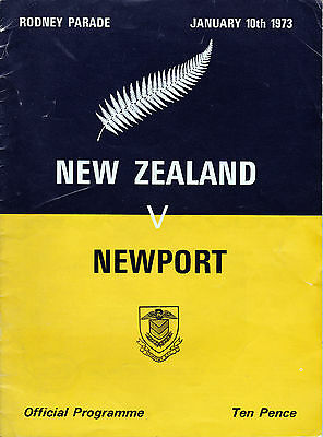 Newport v New Zealand - 1973 All Blacks tour - matchday programme - rugby union
