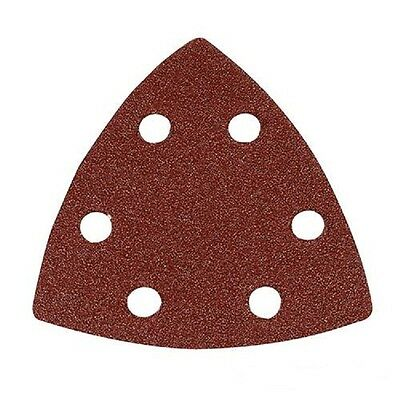 Hook and Loop 90mm 40pk Triangle Detail Sanding Sheets 60/80/120//240 Grit
