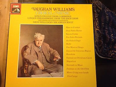 Vaughan Williams: Choral Music 7 LPs, Boult, Willcocks, in Superb Condition.