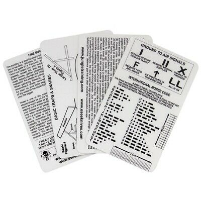 New ESEE Survival Cards - Izula Gear Waterproof Emergency Pocket Reference Guide