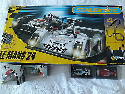 SCALEXTRIC WITH COLLECTABLE CARS and BIKES