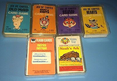 Rare Canadian Issue Vintage 1975 Whitman OLD MAID Card Game 4902 & 5 Other Rare